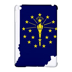 Flag Map Of Indiana Apple Ipad Mini Hardshell Case (compatible With Smart Cover)