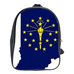 Flag Map Of Indiana School Bag (xl)