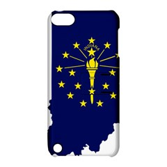 Flag Map Of Indiana Apple Ipod Touch 5 Hardshell Case With Stand