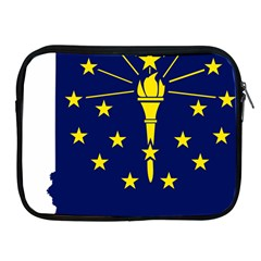 Flag Map Of Indiana Apple Ipad 2/3/4 Zipper Cases by abbeyz71