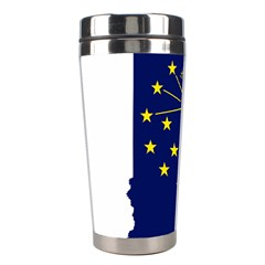 Flag Map Of Indiana Stainless Steel Travel Tumblers
