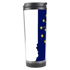 Flag Map Of Indiana Travel Tumbler