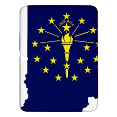 Flag Map Of Indiana Samsung Galaxy Tab 3 (10 1 ) P5200 Hardshell Case