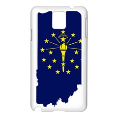 Flag Map Of Indiana Samsung Galaxy Note 3 N9005 Case (white) by abbeyz71