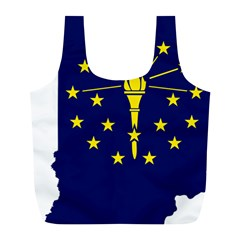 Flag Map Of Indiana Full Print Recycle Bag (l)