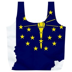 Flag Map Of Indiana Full Print Recycle Bag (xl)