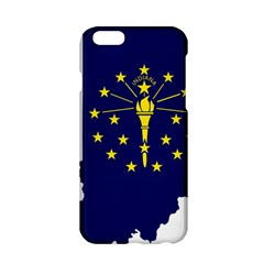 Flag Map Of Indiana Apple Iphone 6/6s Hardshell Case