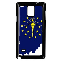 Flag Map Of Indiana Samsung Galaxy Note 4 Case (black) by abbeyz71