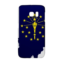 Flag Map Of Indiana Samsung Galaxy S6 Edge Hardshell Case