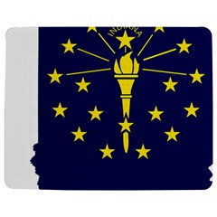 Flag Map Of Indiana Jigsaw Puzzle Photo Stand (rectangular)