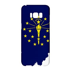 Flag Map Of Indiana Samsung Galaxy S8 Hardshell Case  by abbeyz71