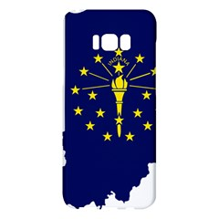 Flag Map Of Indiana Samsung Galaxy S8 Plus Hardshell Case