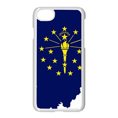 Flag Map Of Indiana Apple Iphone 8 Seamless Case (white)