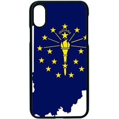 Flag Map Of Indiana Apple Iphone X Seamless Case (black)