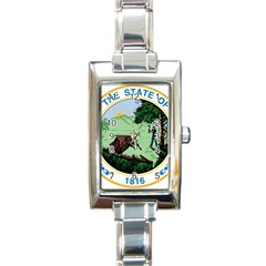 Great Seal Of Indiana Rectangle Italian Charm Watch