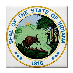 Great Seal Of Indiana Tile Coasters