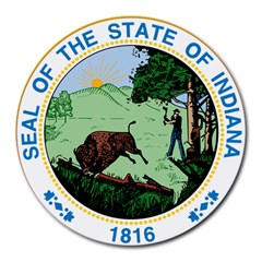 Great Seal Of Indiana Round Mousepads