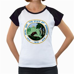 Great Seal Of Indiana Women s Cap Sleeve T