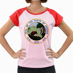 Great Seal Of Indiana Women s Cap Sleeve T Shirt