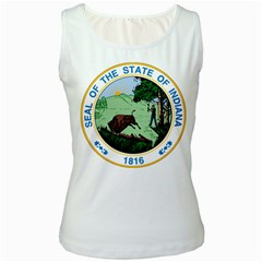 Great Seal Of Indiana Women s White Tank Top