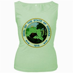 Great Seal Of Indiana Women s Green Tank Top