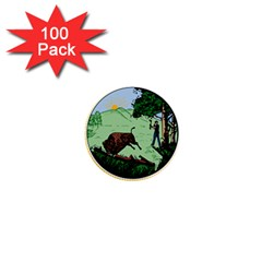 Great Seal Of Indiana 1  Mini Buttons (100 Pack)