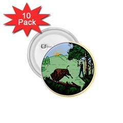 Great Seal Of Indiana 1 75  Buttons (10 Pack)