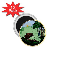 Great Seal Of Indiana 1 75  Magnets (10 Pack)
