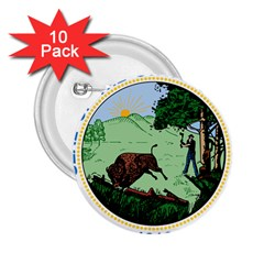 Great Seal Of Indiana 2 25  Buttons (10 Pack)