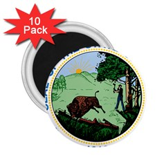 Great Seal Of Indiana 2 25  Magnets (10 Pack)