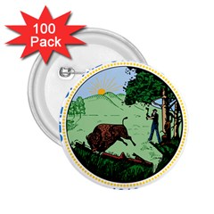 Great Seal Of Indiana 2 25  Buttons (100 Pack)