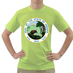 Great Seal Of Indiana Green T Shirt