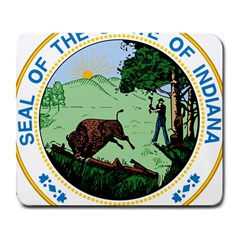 Great Seal Of Indiana Large Mousepads