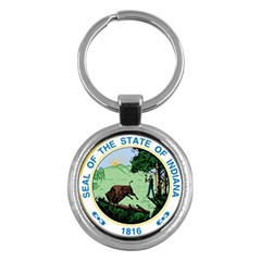 Great Seal Of Indiana Key Chains (round)