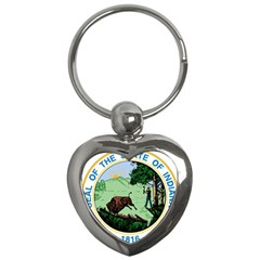 Great Seal Of Indiana Key Chains (heart)