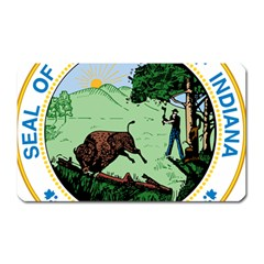 Great Seal Of Indiana Magnet (rectangular)