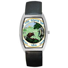 Great Seal Of Indiana Barrel Style Metal Watch