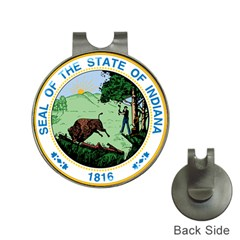 Great Seal Of Indiana Hat Clips With Golf Markers