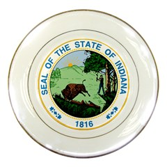 Great Seal Of Indiana Porcelain Plates