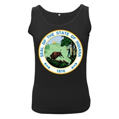 Great Seal Of Indiana Women s Black Tank Top