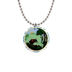 Great Seal Of Indiana 1  Button Necklace