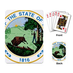 Great Seal Of Indiana Playing Cards Single Design