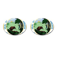 Great Seal Of Indiana Cufflinks (oval)