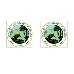 Great Seal Of Indiana Cufflinks (square)