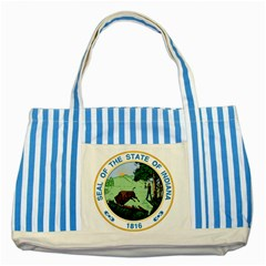Great Seal Of Indiana Striped Blue Tote Bag