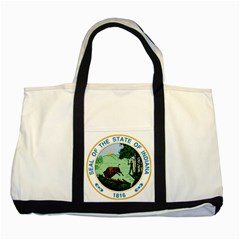 Great Seal Of Indiana Two Tone Tote Bag