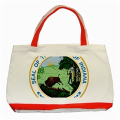 Great Seal Of Indiana Classic Tote Bag (red)