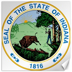 Great Seal Of Indiana Canvas 12  X 12  by abbeyz71
