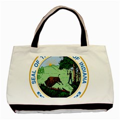 Great Seal Of Indiana Basic Tote Bag (two Sides)
