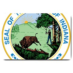 Great Seal Of Indiana Large Doormat